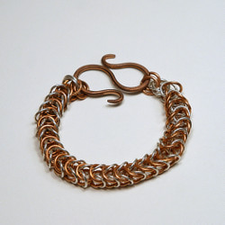 Silver and Copper Bracelet